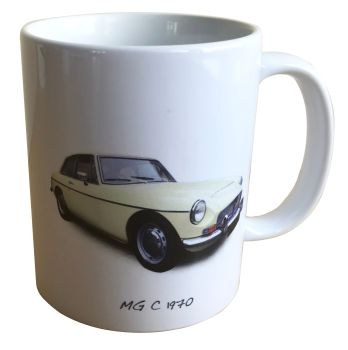 MG C GT 1970 - 11oz Ceramic Mug - Ideal Gift for the Sports Car Enthusiast - Free UK Delivery