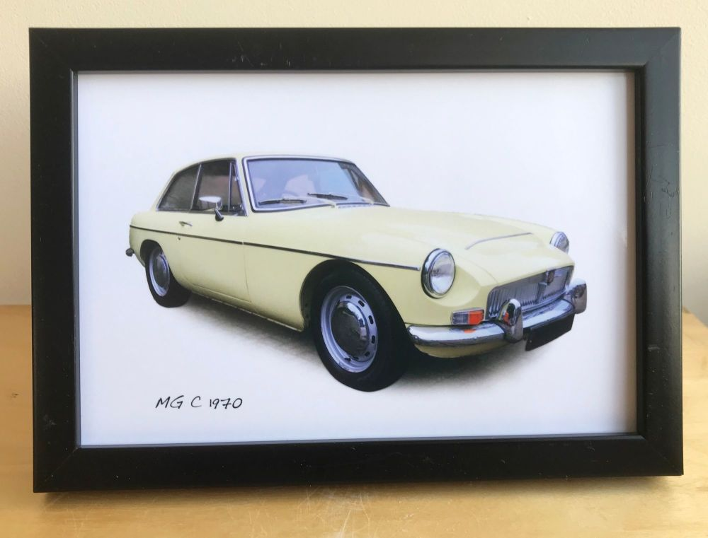 MG C GT 1970 -  Photograph (4x6in) in Black, White or Silver Coloured Frame