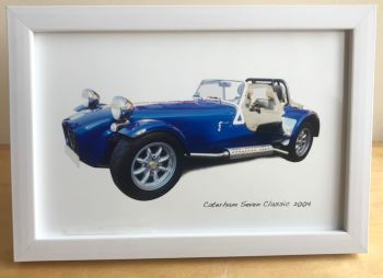 Caterham Seven 2004 - Photograph (4x6in) in Black, White or Silver Coloured Frame - Free UK Delivery