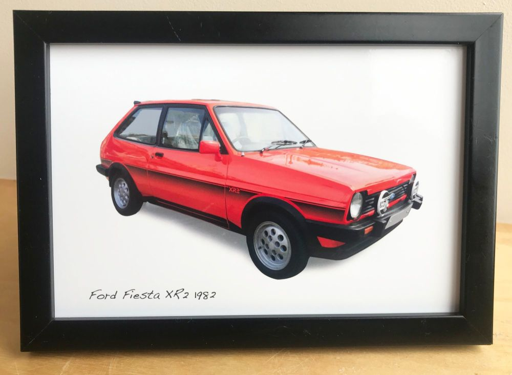 Ford Fiesta XR2 1982 - Photograph (4x6in) in Black, White or Silver Coloure