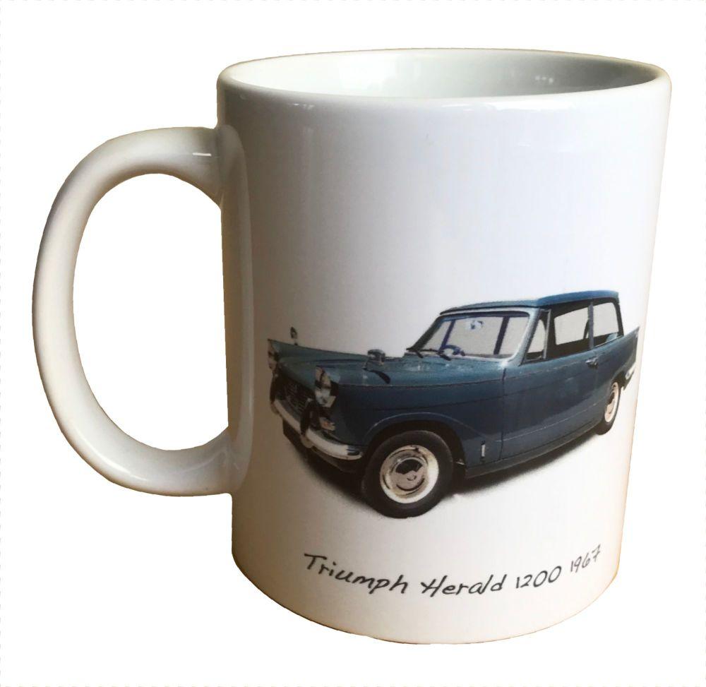 Triumph Herald 1200 1967 - 11oz  Ceramic Mug - Ideal Gift for the Car Enthu