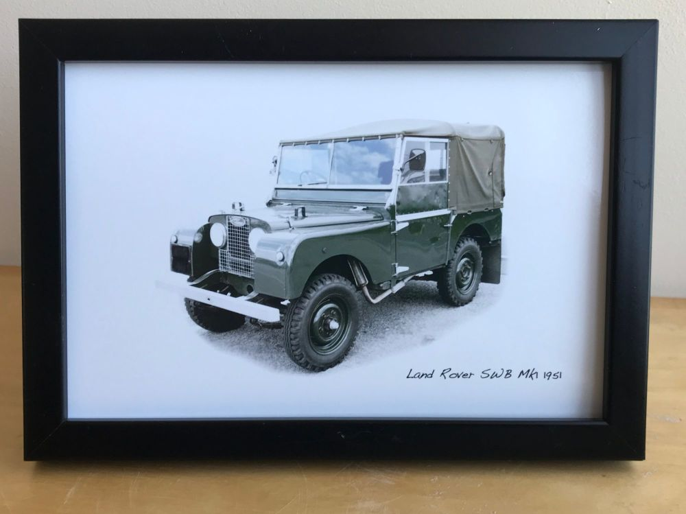 Land Rover Mk1 1951 - Photo (4x6in) in either a White, Black or Silver colo