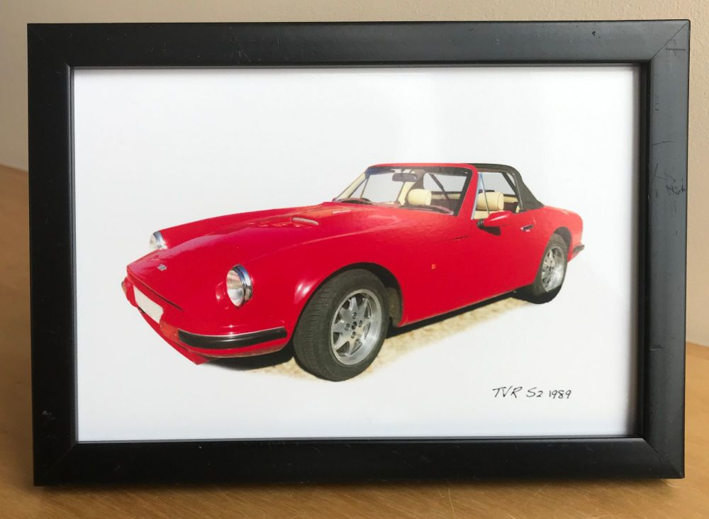 TVR S2 1989  - Photograph (4x6in) in Black, White or Silver Coloured Frame