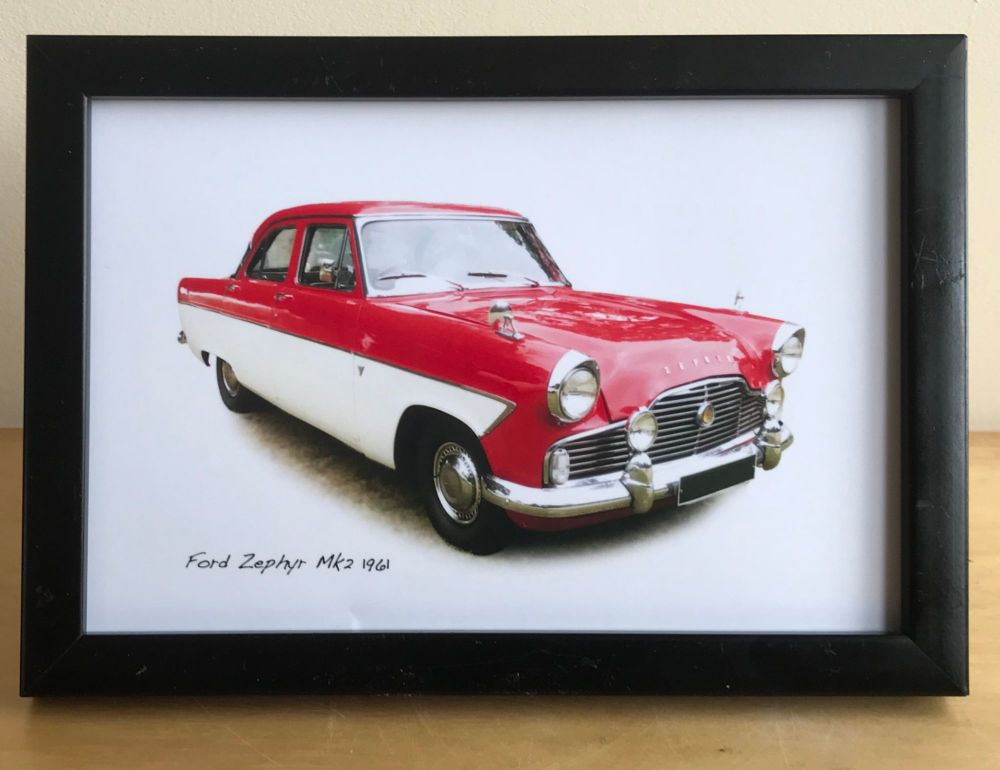 Ford Zephyr Mk 2 1962 - Photograph (4x6in) in Black, White or Silver Colour