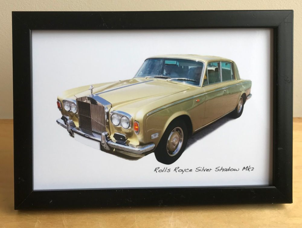 Rolls Royce Shadow Mk2 - Photograph (4x6in) in either a Black, White or Sil