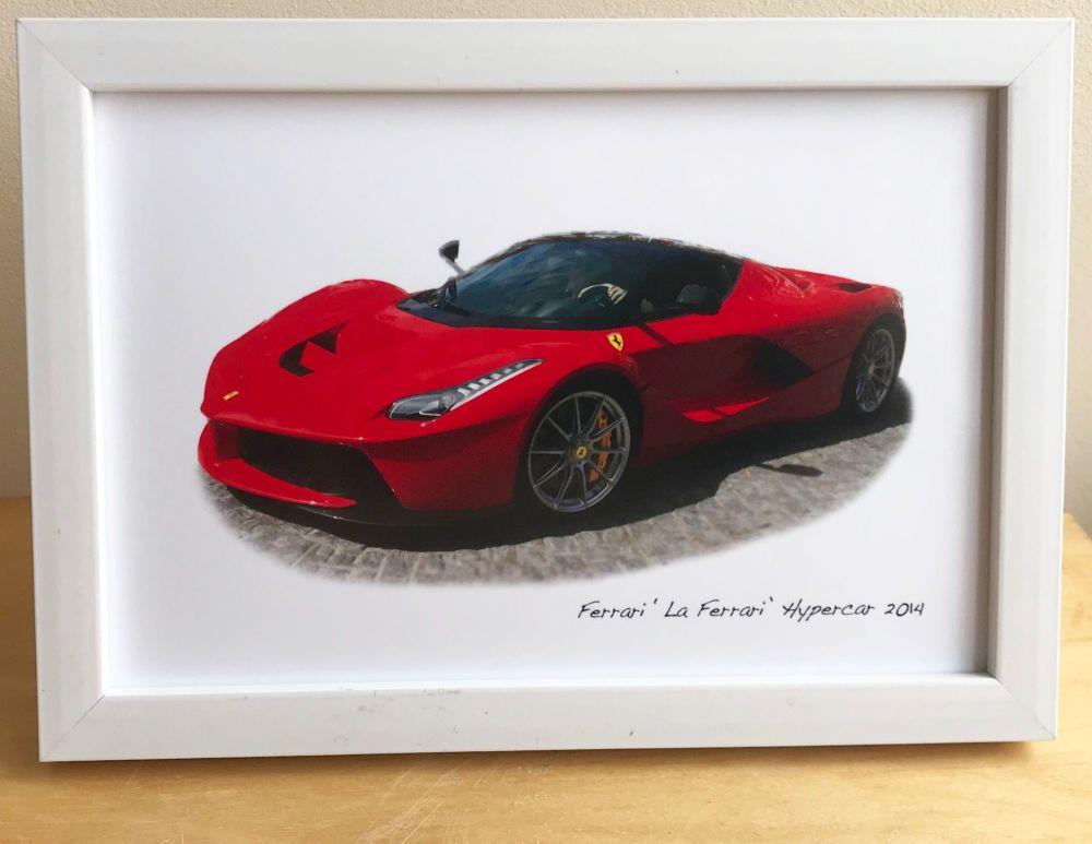 Ferrari Hypercar 'La Ferrari' 2014 - Photograph (4x6in) in Black, White or
