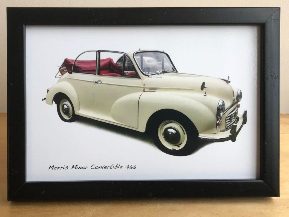 Morris Minor Convertible 1965 (Cream) -  Photo (4x6in) in a White, Black or