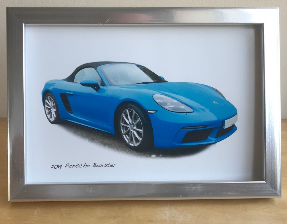 Porsche Boxster 2017 - Photograph (4x6in) in either a Black, White or Silve