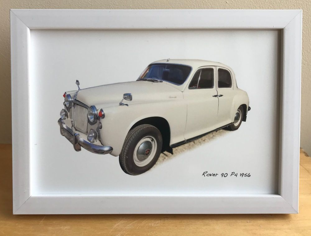Rover 90 P4 1956 - Photograph (4x6in) in either a Black, White or Silver co