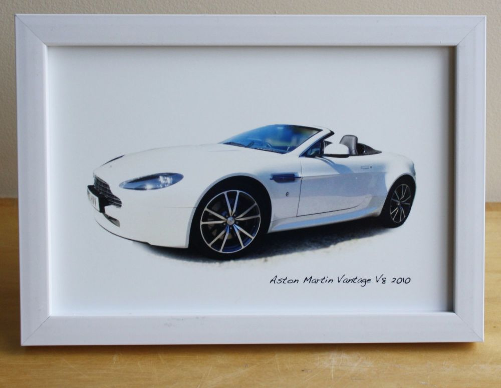Aston Martin Vantage V8 2010 - Photograph (4x6in) in Black, White or Silver