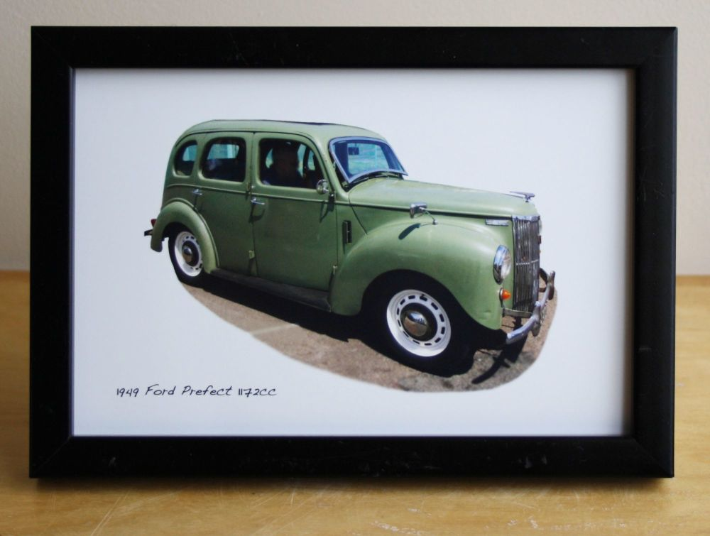 Ford Prefect 1949 - Photograph (4x6in) in Black, White or Silver Coloured F