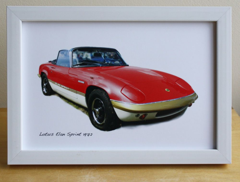 Lotus Elan Sprint 1972 (Red) - Photograph (4x6in) in Black, White or Silver