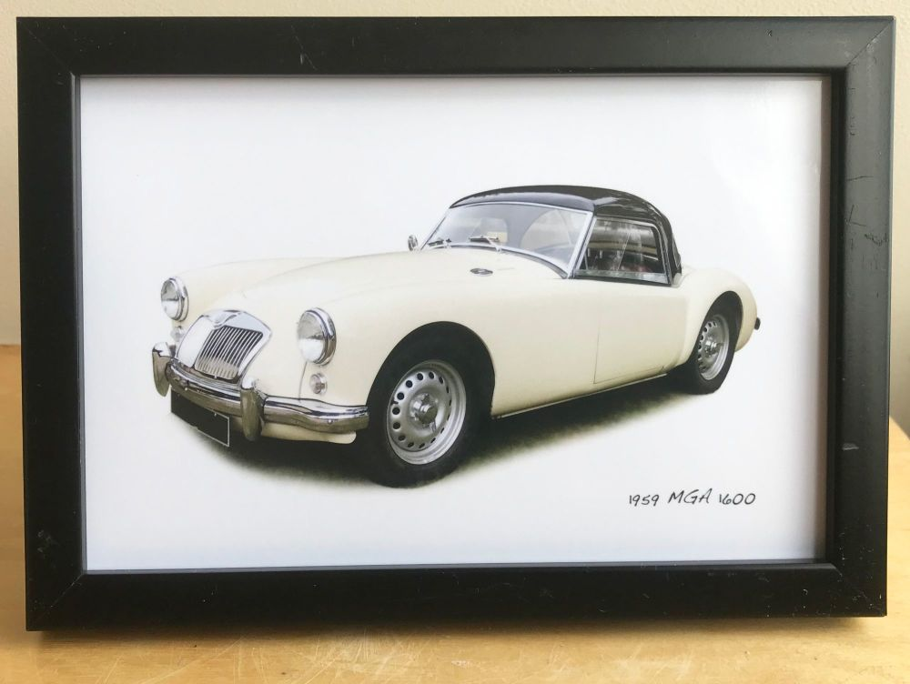 MGA 1600 1959 - Photo (4x6in) in a Black, White or Silver coloured frame -