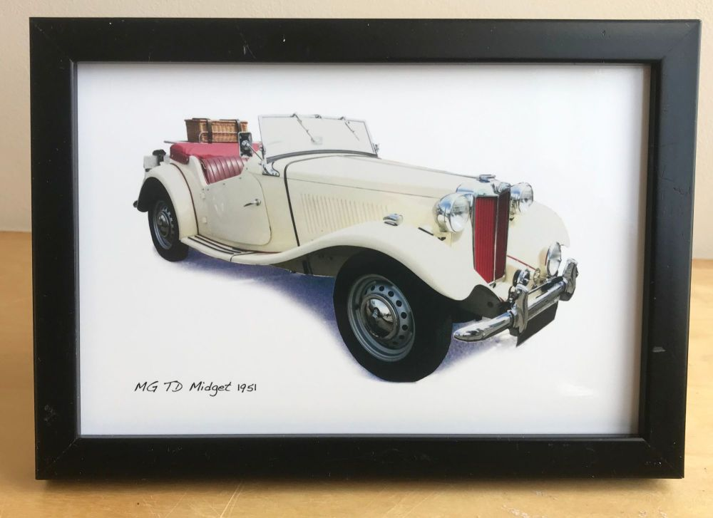 MG TD Midget 1951 -  Photo (4x6in) in a Black, White or Silver coloured fra
