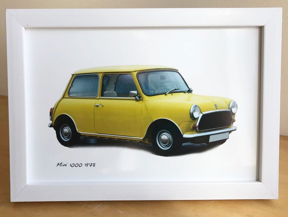 Mini 1000 1969 (Yellow) - Photo (4x6in) in a Black, White or Silver coloure