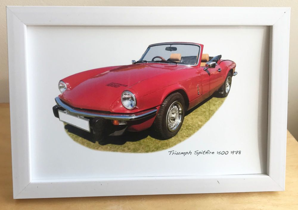 Triumph Spitfire 1500 1978 - Photograph (4x6in) in either a Black, White or