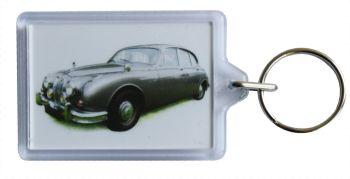 Jaguar Mk2 2.4 1962 - Plastic Keyring with 35 x 50mm Insert - Free UK Delivery