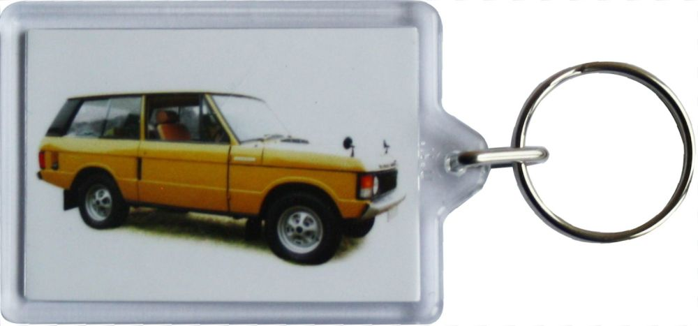 Range Rover Classic 1977 - Plastic Keyring with 35 x 50mm Insert - Free UK