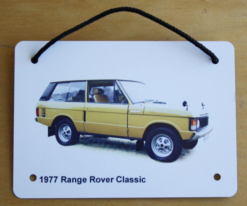 Range Rover Classic 1977 - Aluminium Plaque (Three sizes available) - Ideal