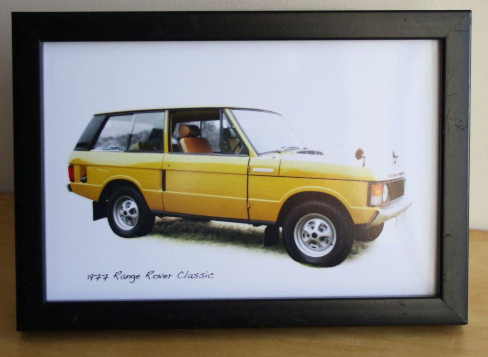Range Rover Classic 1977 - Photo (4x6in or 8x10in) in either a White, Black