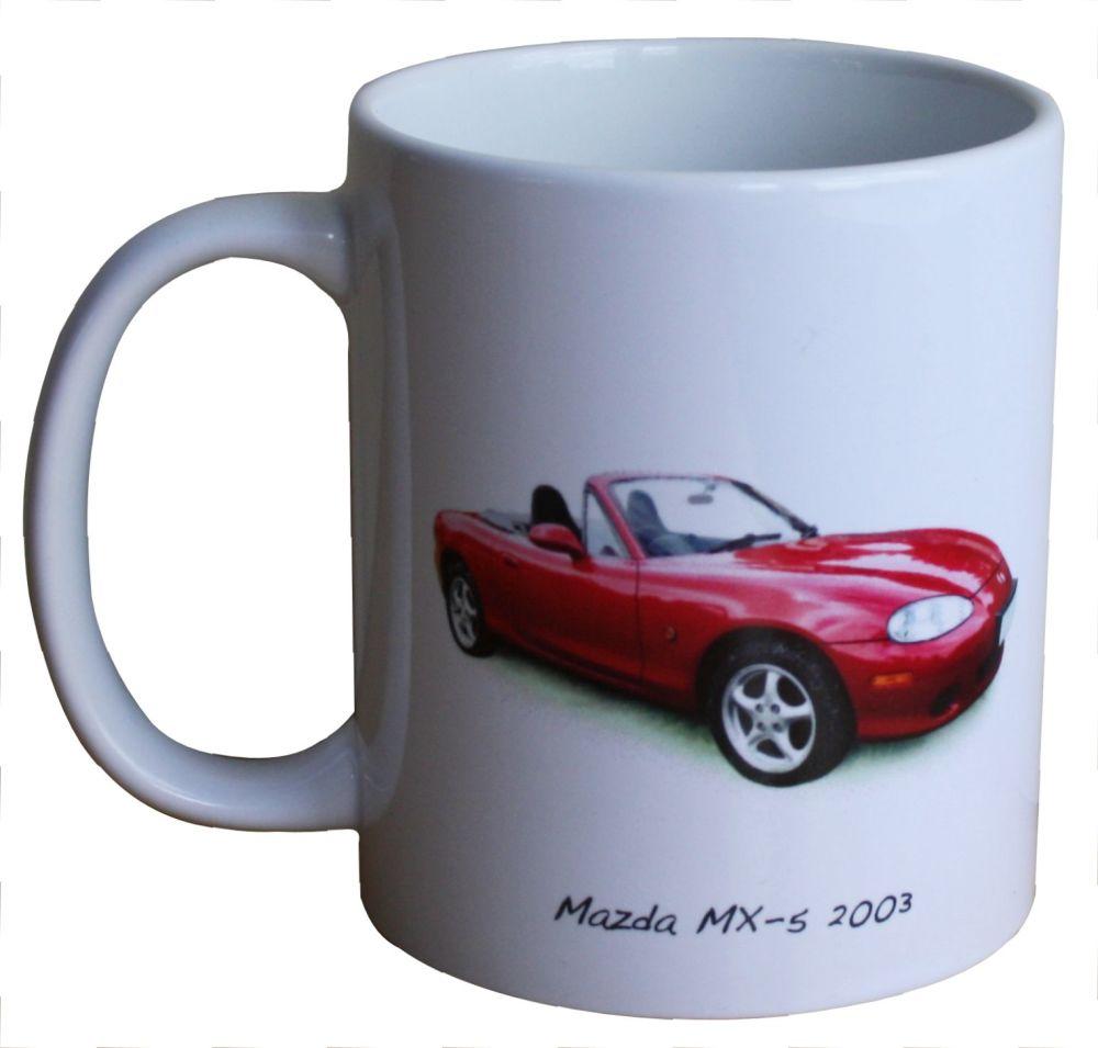 Mazda MX-5 2003 - Ceramic Mug - Ideal Gift for the Sports Car Enthusiast -
