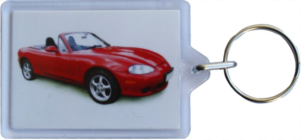 Mazda MX-5 2003 - Plastic Keyring with 35 x 50mm Insert - Free UK Delivery