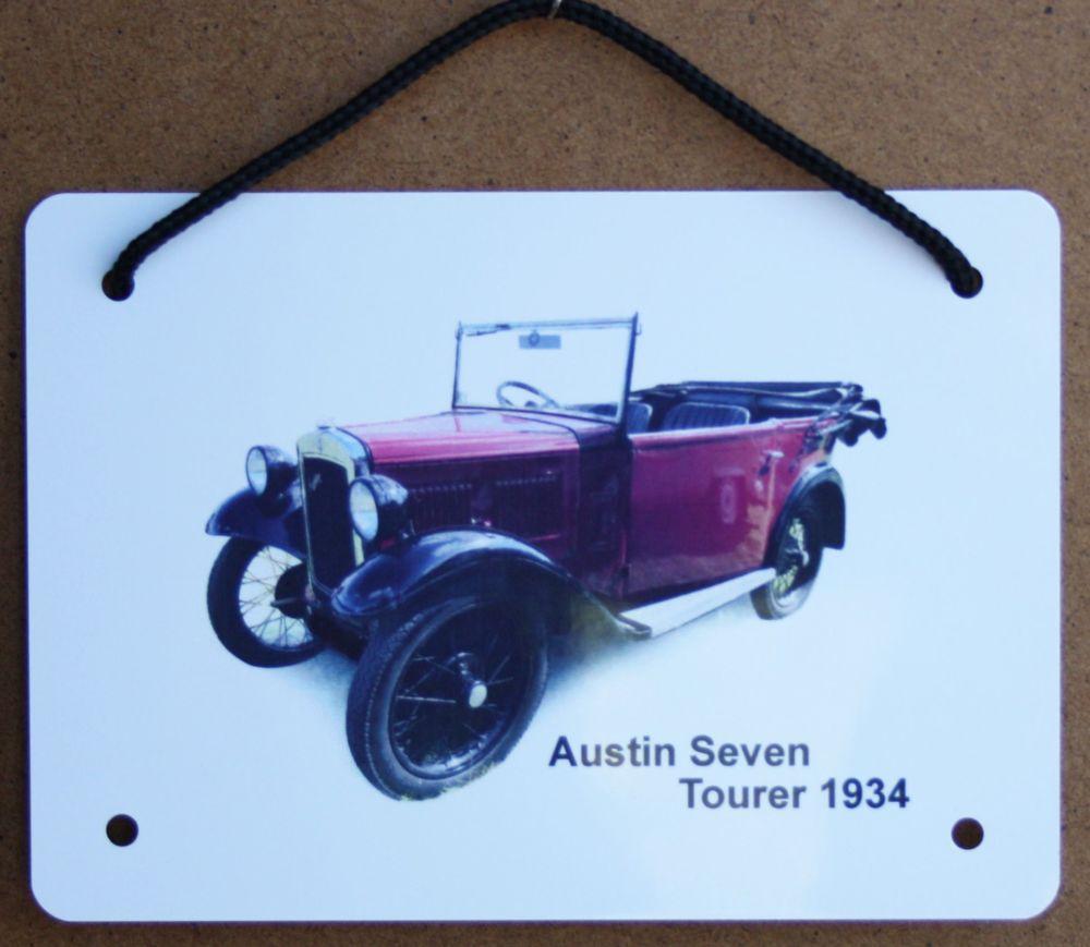 Austin Seven Tourer 1934 - Aluminium Plaque (A6, A5 or 200x300mm) - Present