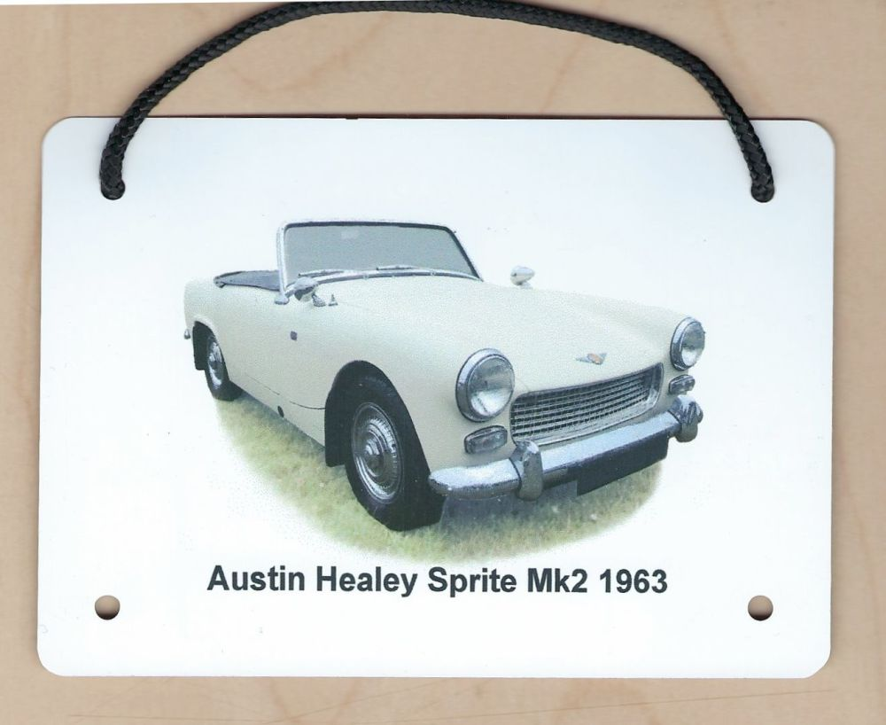 Austin Healey Sprite Mk2 1963 - Aluminium Plaque (A6, A5 or 200x300mm) - Pr