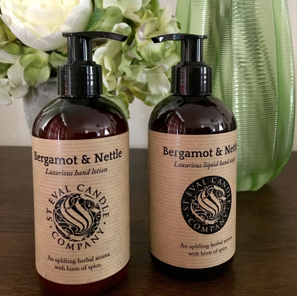 St Eval - Bergamot & Nettle Hand Wash and Lotion Gift Set