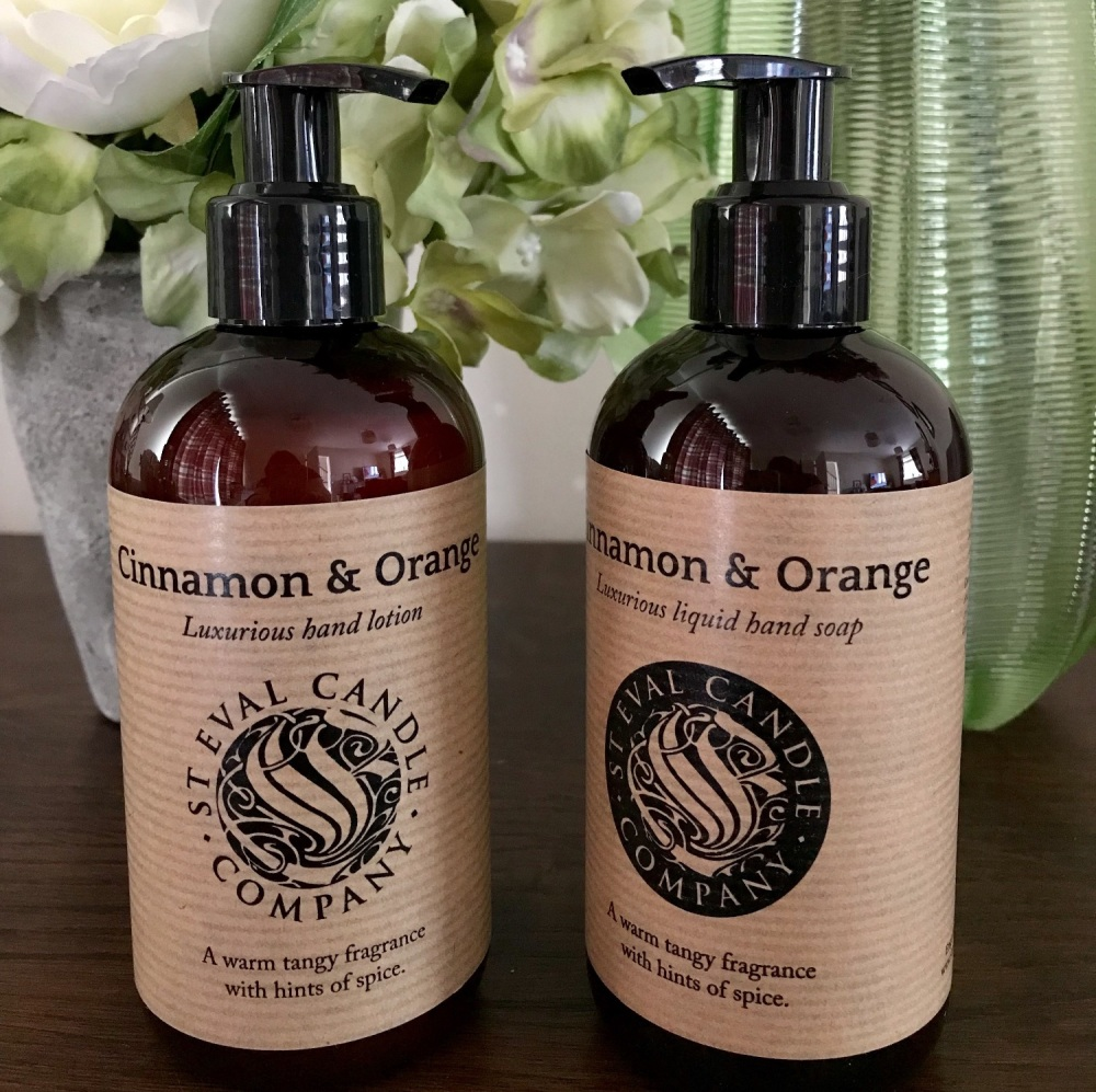 St Eval - Cinnamon & Orange Hand Wash and Lotion Gift Set