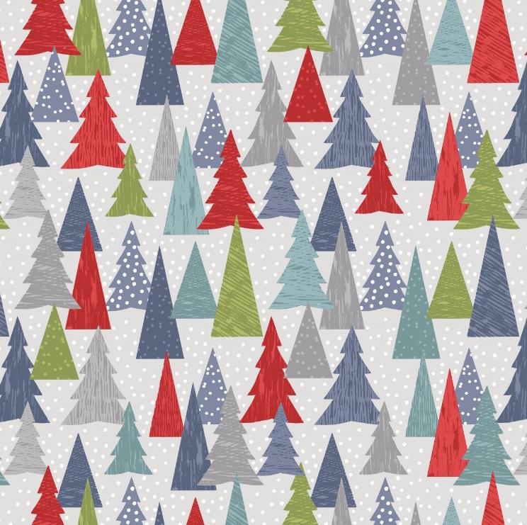 Hygge Christmas - Christmas Trees - Red