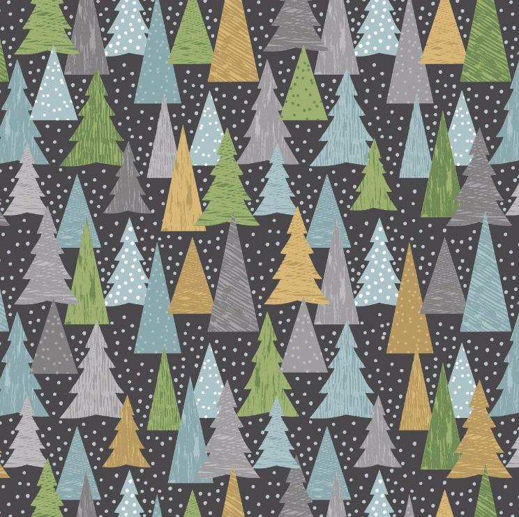 Hygge Christmas - Christmas Trees - Slate