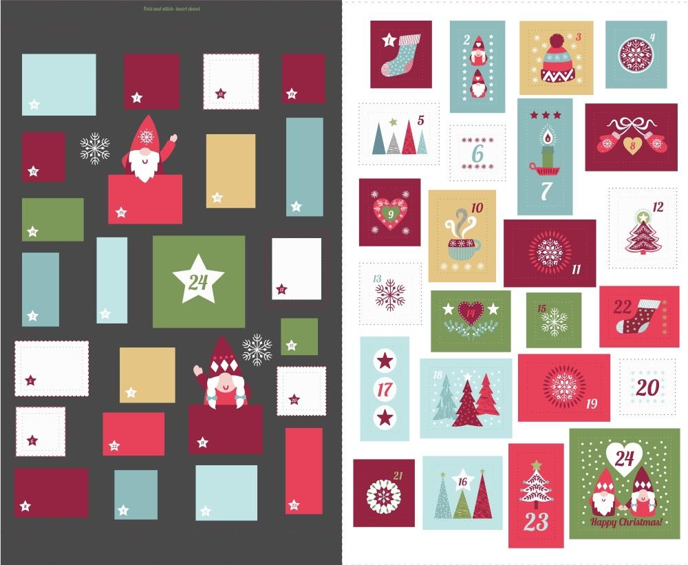 Hygge Christmas Advent Panel - Dark Grey
