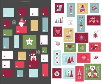 Lewis & Irene - Hygge Christmas Advent Panel - Dark Grey