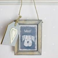 East of India Animal Head Hanging Picture - Woof