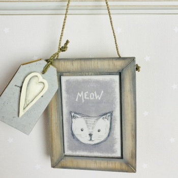 East of India Animal Head Picture - Meow