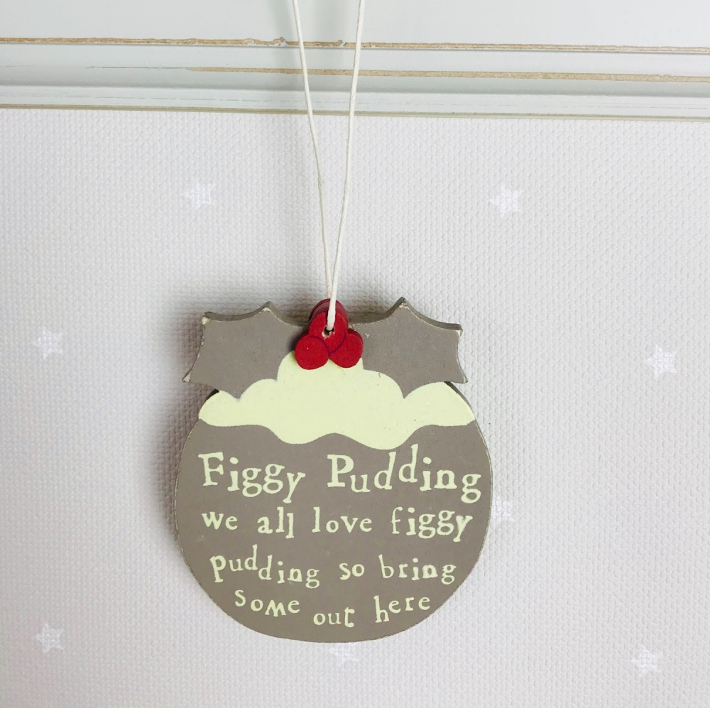 East of India Figgy Pudding Hanging Decoration