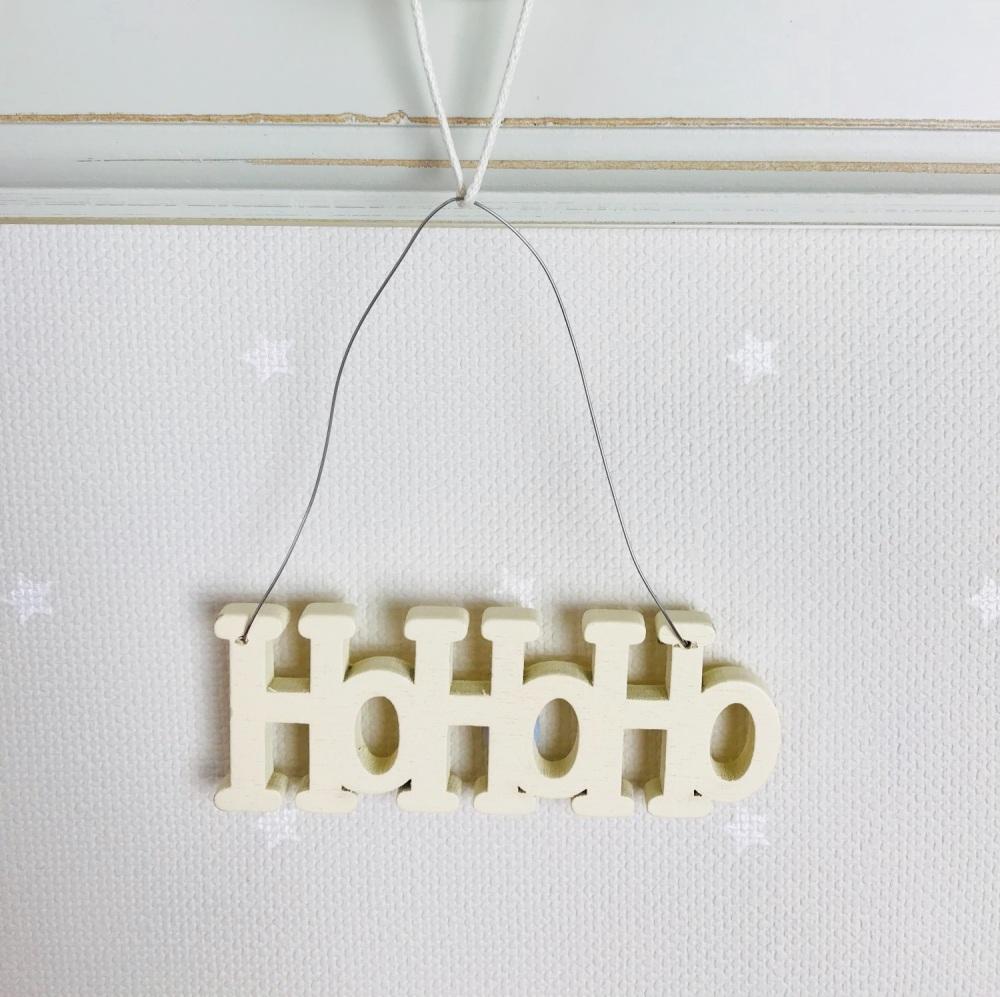 Eat of India - HoHoHo Wooden Hanging Decoration