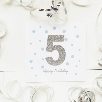 Handmade Age Card - Blue Dots