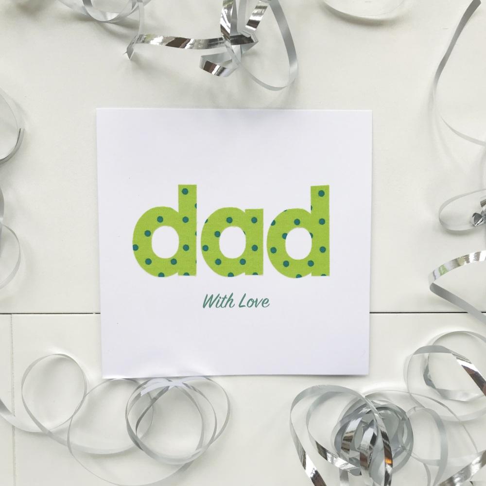 Handmade 'dad' Card - 6