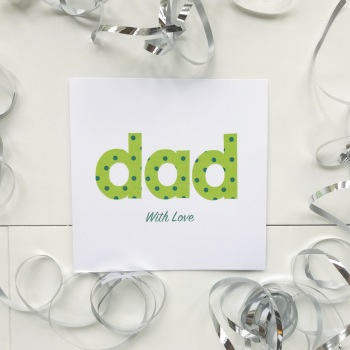 "Handmade 'dad' Card - 6"" by 6"""
