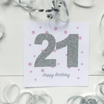 Handmade Age Card - Pink Dots
