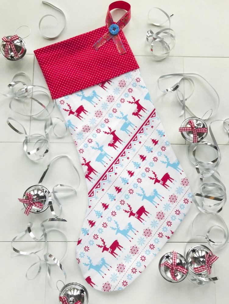 Christmas Stocking - Scandi Style Fabric