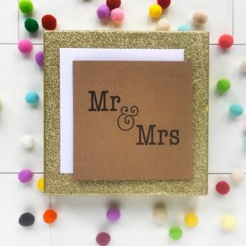 Mr & Mrs - Wedding Day Card