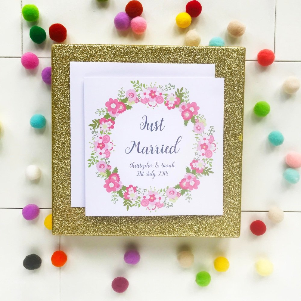 Just Married - Personalised Wedding Day Card