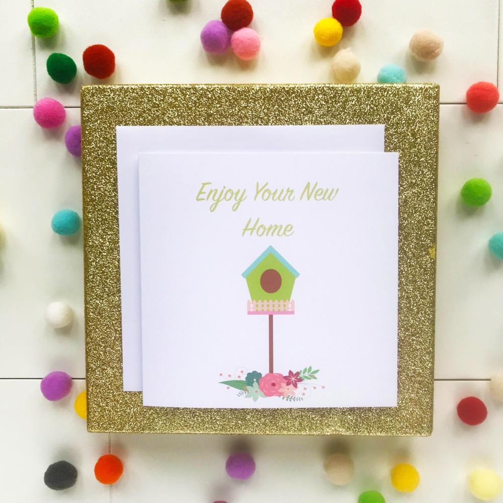 New Home Greetings Card - Birdhouse