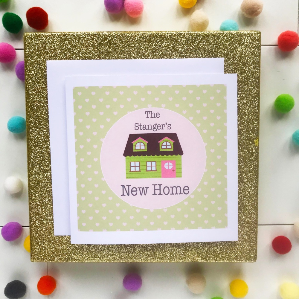 New Home Greetings Card - House - Personalised