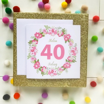Happy Birthday Greetings Card with Age
