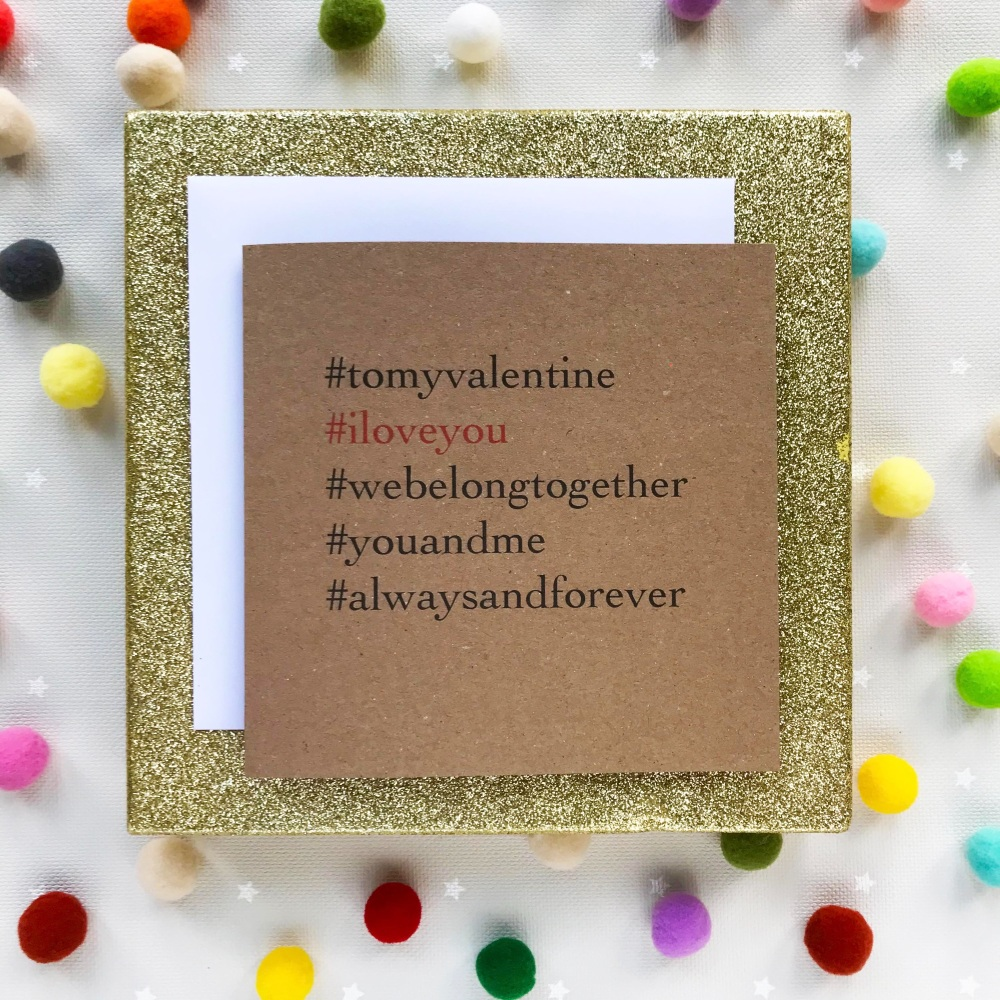 Valentine's Greeting Card - 'Always & Forever'