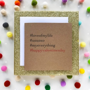 Valentine's  Hashtag Greeting Card - 'Happy Valentines Day'